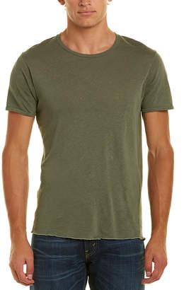 J Brand Linen-Blend Grandpa T-Shirt