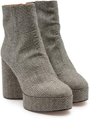 Clergerie Belent Houndstooth Platform Ankle Boots
