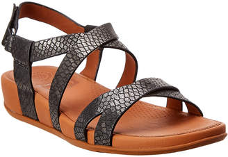 FitFlop Lumy Shimmersnake Leather Sandal