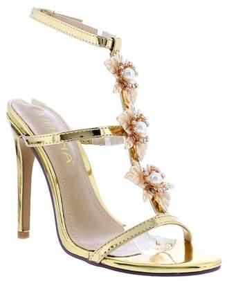 Liliana Golden Ankle Strap Sandal