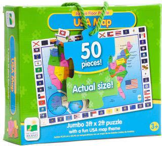 Usa Map Jumbo Floor Puzzle