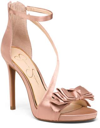 Satin Bow Detail Dress Heels