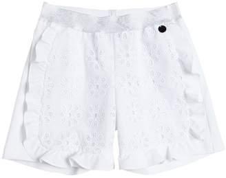 Simonetta Cotton Eyelet Lace & Piqué Shorts