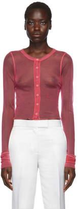 Helmut Lang Pink Femme Sheer Cardigan