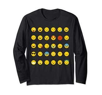 Emoji Emoticons Smiley Popular Emojis Printed Longsleeve