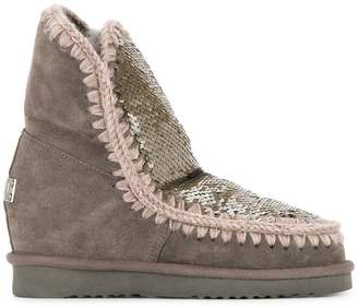 Mou sequinned snow boots