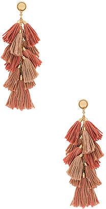 Ettika Tassel Bunch Earrings in Metallic Gold. $44 thestylecure.com