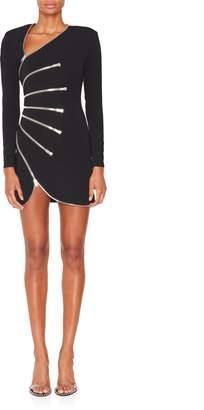 Alexander Wang Multi-Zipper Longsleeve Dress