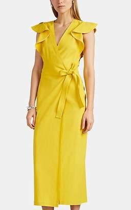 A.L.C. Women's Walker Linen-Blend Wrap Dress - Yellow