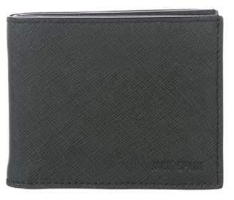 Jack Spade Leather Bi-Fold Wallet green Leather Bi-Fold Wallet