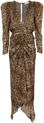 Ronny Kobo Astrid Leopard Burnout Dress