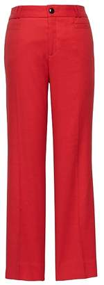 Banana Republic Petite Logan Trouser-Fit Cropped Stretch Linen-Cotton Pant