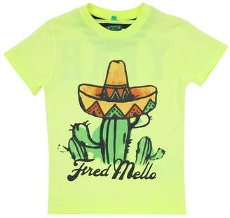 Fred Mello Cactus Print Cotton Jersey T-shirt