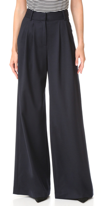 Milly Wide Leg Trousers $395 thestylecure.com