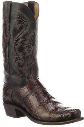 Lucchese Men's Rio Gator Leather Western Cowboy Boots