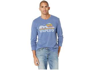 Life is Good Unplug Beach Guitar Crusher Long Sleeve T-Shirt