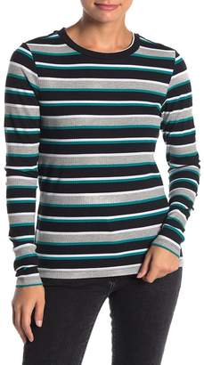Noisy May Melse Long Sleeve Stripe Print Knit Top