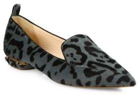 Nicholas Kirkwood Beya Leopard-Print Calf Hair Loafers $695 thestylecure.com