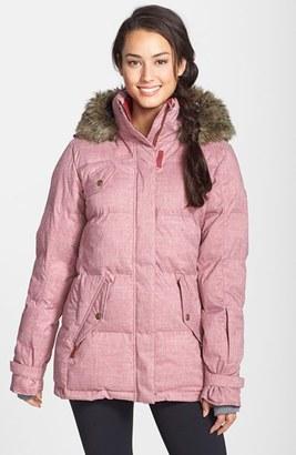 Roxy 'Quinn' Faux Fur Trim Quilted Coat $240 thestylecure.com