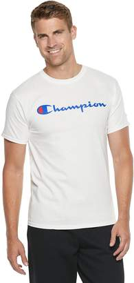 Champion Men's Script Logo Tee