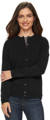 Women's Croft & Barrow® Essential Cardigan Sweater $36 thestylecure.com