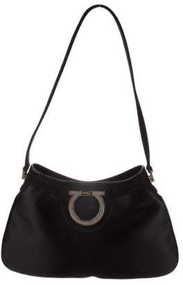 7a20967f8a14 Pre-Owned at TheRealReal · Salvatore Ferragamo Crystal-Embellished Satin  Hobo