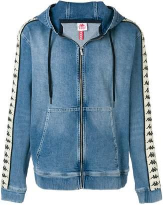 Kappa branded sleeves denim hoodie