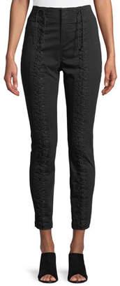 A.L.C. Kerrigan Lace-Up Skinny-Leg Pants
