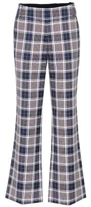 Tory Burch Garret plaid trousers