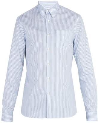 Prada Single-cuff striped cotton-poplin shirt