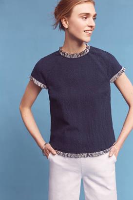 Deletta Frayed Indigo Tee $88 thestylecure.com