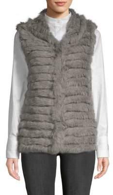 La Fiorentina Open-Front Fur Vest