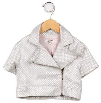 Junior Gaultier Girls' Short Sleeve Moto Jacket