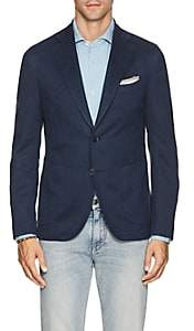 Barneys New York Men's Linen-Cotton Piqué Two-Button Sportcoat - Md. Blue