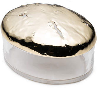 Alexis Bittar Watery Surface Lucite Box With Rocky Metal Lid