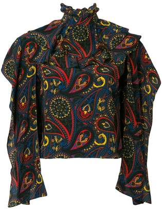 J.W.Anderson abstract print blouse