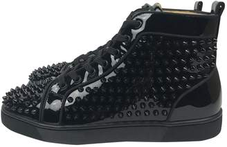 Christian Louboutin Louis Black Patent leather Trainers
