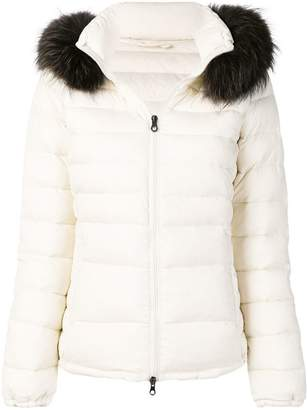 Duvetica raccoon fur trimmed hood padded coat