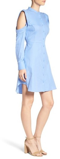 Women's Bcbgmaxazria Cold Shoulder Shirtdress 2