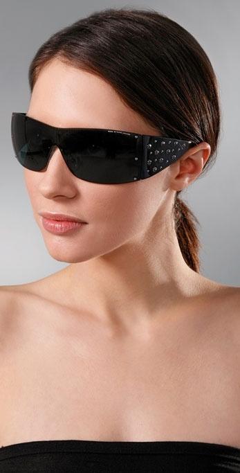 Marc by Marc Jacobs Sunglasses Wraparound Stud Sunglasses