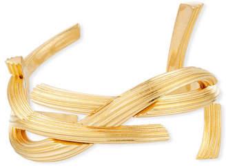 Saint Laurent Monogram Bracelet, Golden, Size Medium