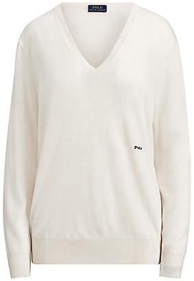 Polo Ralph Lauren (ポロ ラルフ ローレン) - [POLO RALPH LAUREN(ウィメンズ)] ウールカシミヤ Vネック セーター