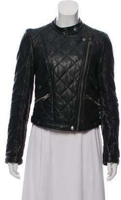 Burberry Quilted Leather Moto Jacket Black Quilted Leather Moto Jacket