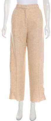 MM6 MAISON MARGIELA High-Rise Wool Pants Beige High-Rise Wool Pants