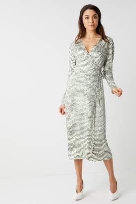 3566d95932b5 Next Womens Glamorous Spot Print Wrap Midi Dress