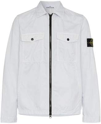Stone Island zip shirt jacket