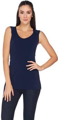 Susan Graver Essentials Liquid Knit Sleeveless Top with Shirring