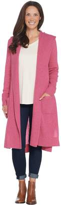 Isaac Mizrahi Live! 2-Ply Cashmere Hooded Duster Cardigan