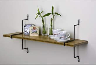 Aderet Single Bamboo Shelf with Straight Brackets