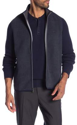 Brooks Brothers Herringbone Polar Fleece Vest